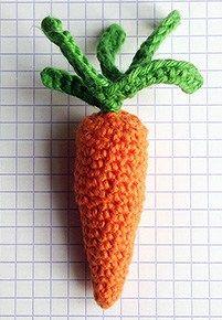 lille hæklet gulerod