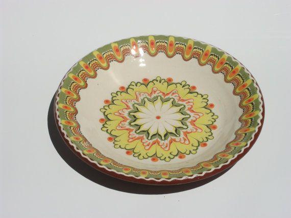 Original  ceramic pottery  plate  handmadehand painted by violetov, $7.99