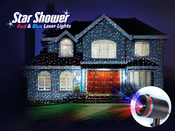 Star Shower Red & Blue Laser Lights Projector for Patriotic Spirit Year-round | BulbHead