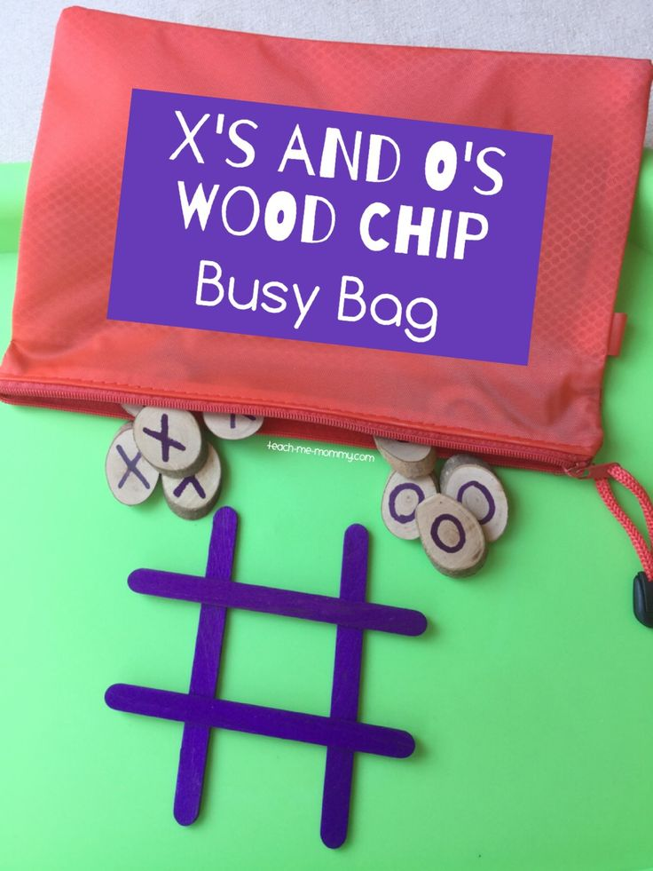 X's and O's Busy Bag Another easy to set up busy bag, and oh so fun for kids!