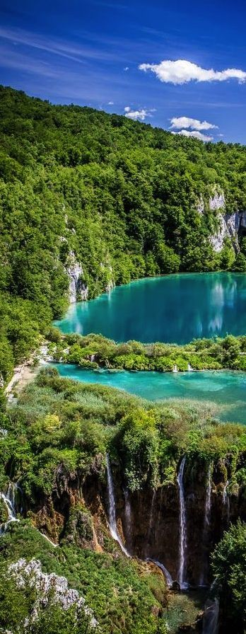 Plitvice lakes National Park, Croatia #travel #nature #landscape #blue #green #water