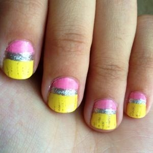 Best 25 pencil nails ideas on pinterest amazing nails cool back to school inspired nail art pencil tops by christina coker prinsesfo Gallery