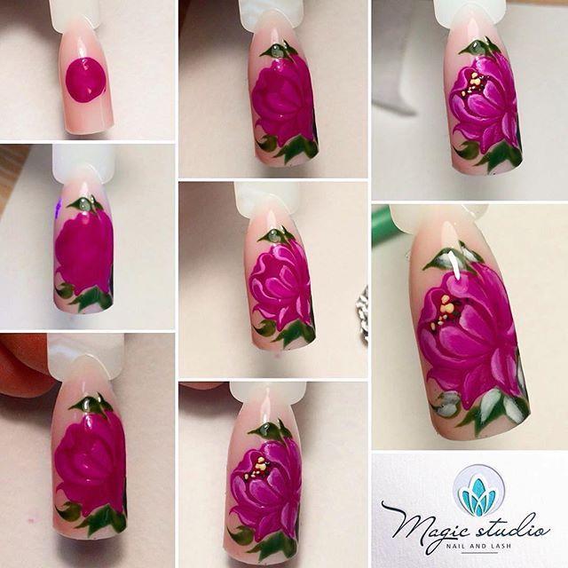 стоит рассчитывать цветы на ногтях пошаговое фото для начинающих процессе