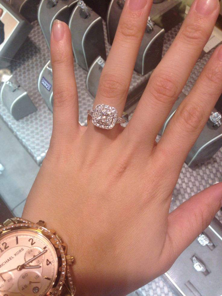 Neil Lane Double Halo 2ct tw Diamond 14k White Gold Princess Cut Engagement Ring... A Girl Can Dream Can't She?