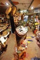 Librería Acqua Alta (Venecia). Los libros, aquí,saben nadar.