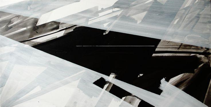 """Negative 1"" / acrylics on canvas"