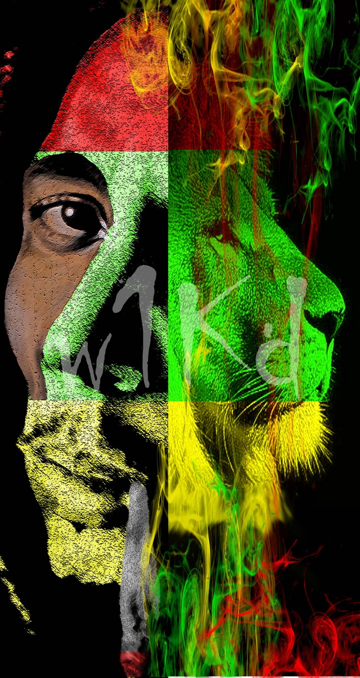 Bob Marley and the Rasta Lion digital original SOLD