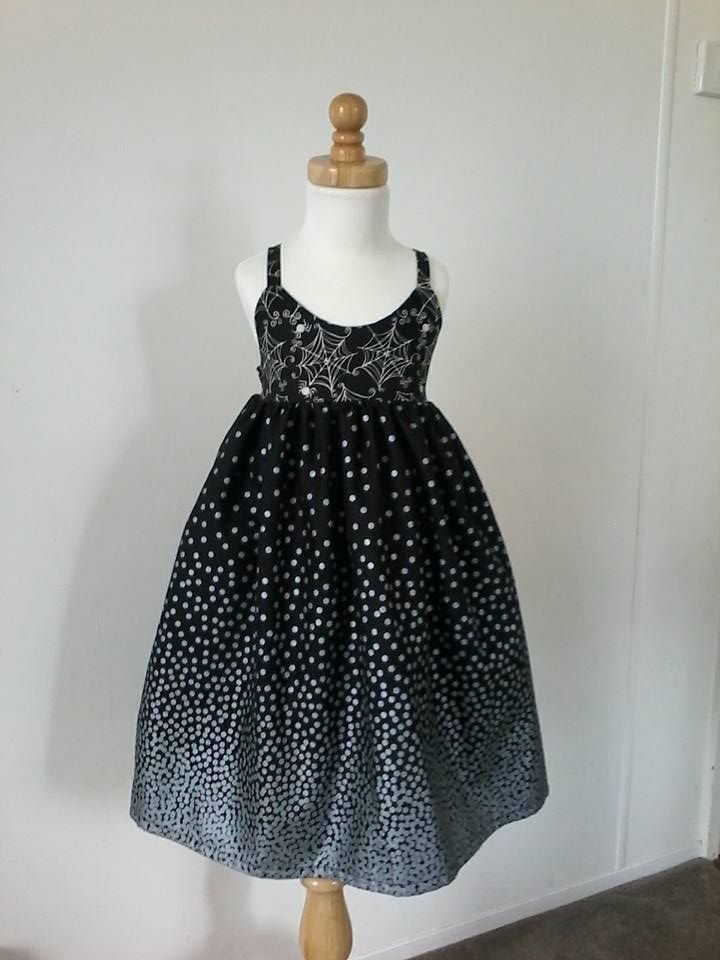 Handmade By Bear In A Chair Stunning Silver Confetti Dots Border Dress For more information, please visit https://www.facebook.com/HandmadeMarkets