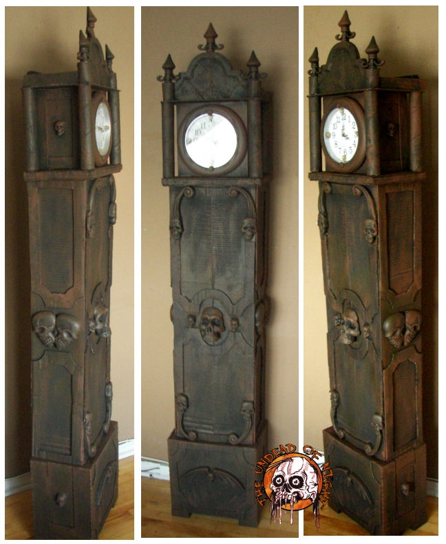 Cardboard clock . http://www.halloweenforum.com/members/theundeadofnight-albums.html