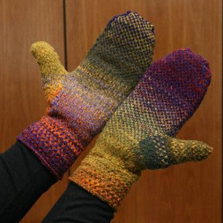Cynthia's Simple Kureyon Colourwork Mittens by Cynthia Hyslop