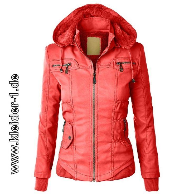 Damen Zipper Jacke mit Fleece Kaputze