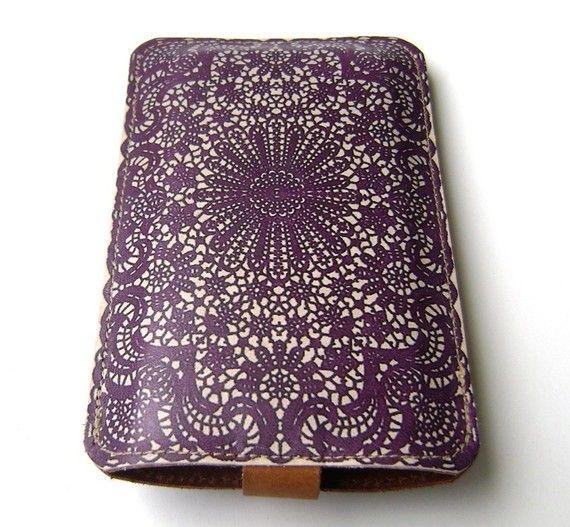 purple lace iPhone case
