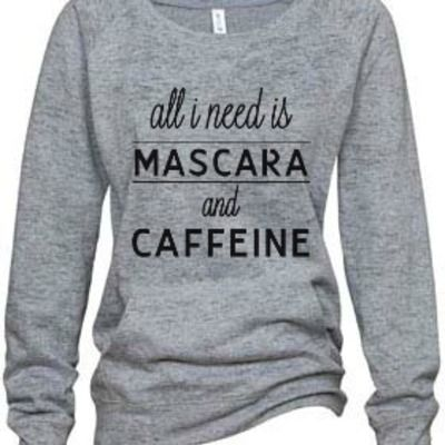"""mascara"" athletic heather burnout fleece sweatshirt"