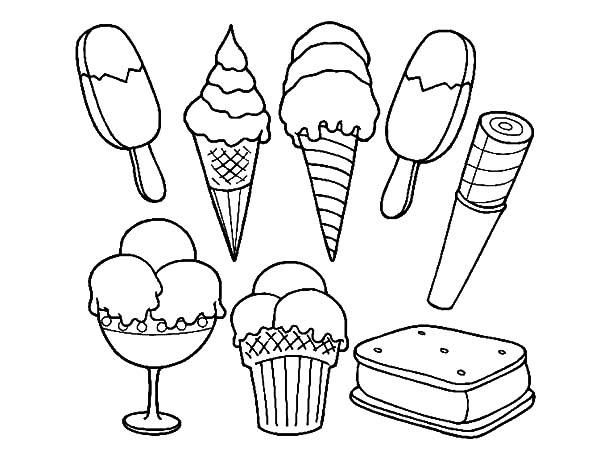 Ice Cream Sandwich Coloring Pages Ice Cream Coloring Pages Flower Coloring Pages Ice Cream Crafts