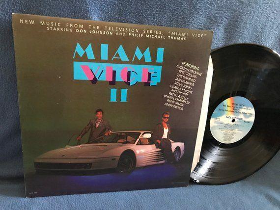 Vintage Miami Vice Ii Original Soundtrack Etsy Miami Vice Vinyl Sales Roxy Music