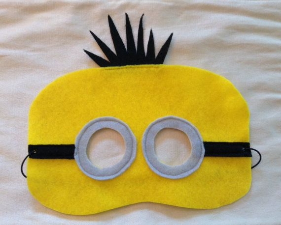 Check out this item in my Etsy shop https://www.etsy.com/listing/240467088/minion-mask-set-of-12-part-favor