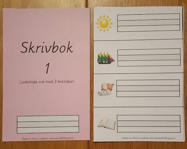Min blogg om allt mellan himmel och jord: Montessorimaterial: Skriva rosa ord med 3 bokstäve...
