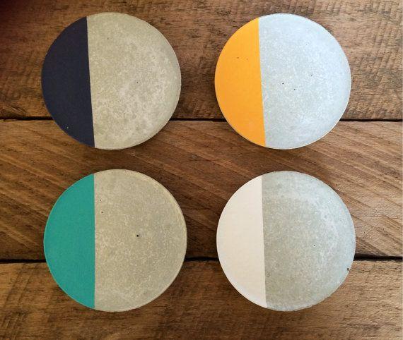 Concrete coasters (set of 4) StoneAndTreeCo