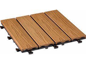 Klick-Fliese WPC Holzstruktur-Optik Bangkirai 30 cm x 30 cm 6 Stück