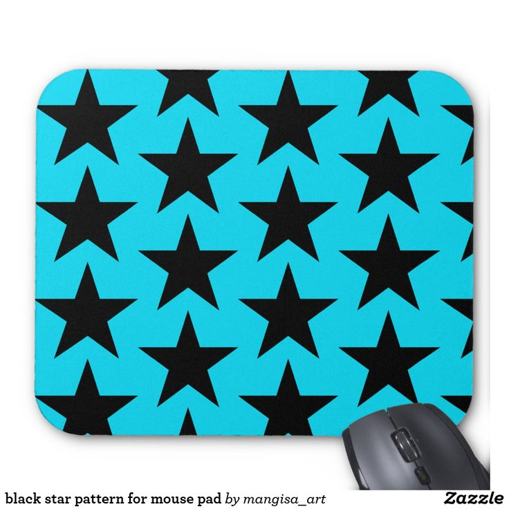 black star pattern for mouse pad