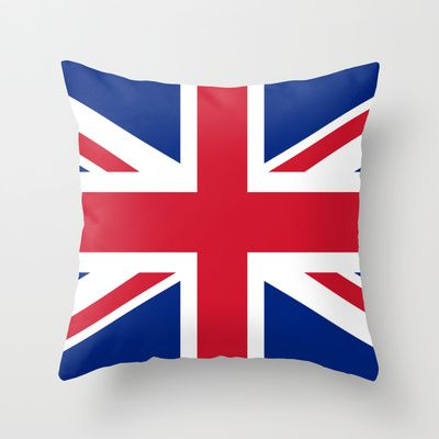 UK FLAG - The Union Jack Authentic color and 3:5 scale  Throw Pillow by LonestarDesigns2020 - Flags Designs + - $20.00 #UK