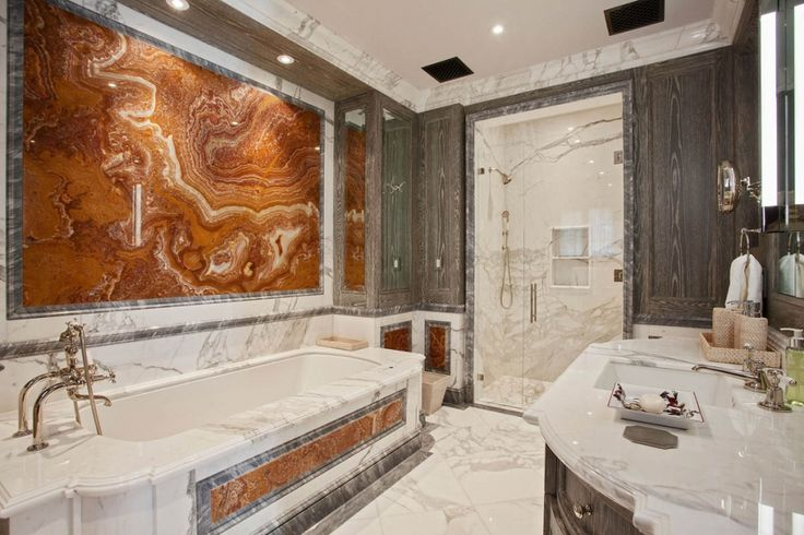 Marble And Wood Mixed Together Perfectly Great Idea For Remodeling Your Bathroom