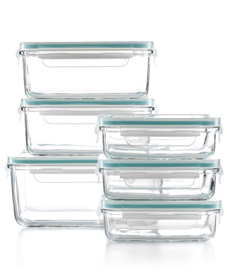Martha Stewart Collection Food Storage Container Set, 12 Piece Glass - Martha Stewart Collection - Kitchen - Macys