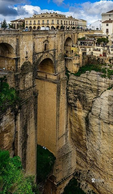 Roma Bridge, Ronda, Spain                                                                                                                                                      Mais