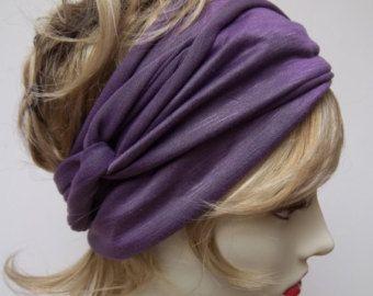 Yoga Wrap Lilac Ballerina Hair Wrap Rayon Work Out Stretchy Ballet Exercise Headband