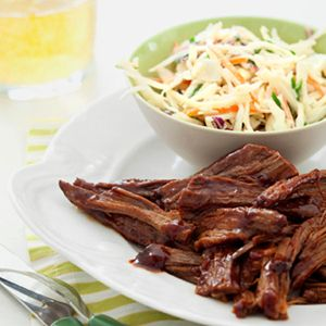 BBQ Brisket with Cider Slaw Recipe - Good Housekeeping