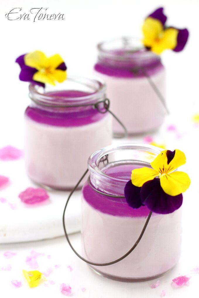 Violet Panna Cotta Recipe