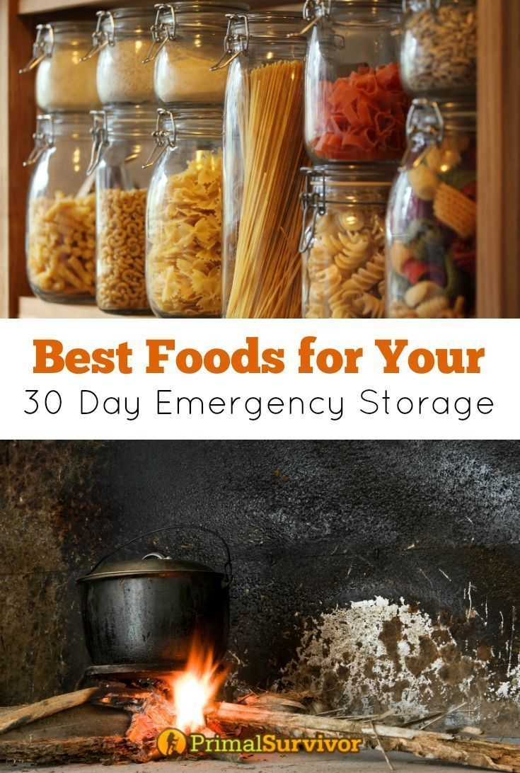Best Foods for your 30 Day Emergency Storage. There are many types of survival foods for disaster preparedness. For your 30 day emergency food storage though, we can break them down into two types: Food that doesn't require cooking and food that does require cooking. | Posted by: SurvivalofthePrepped.com #survivalcooking