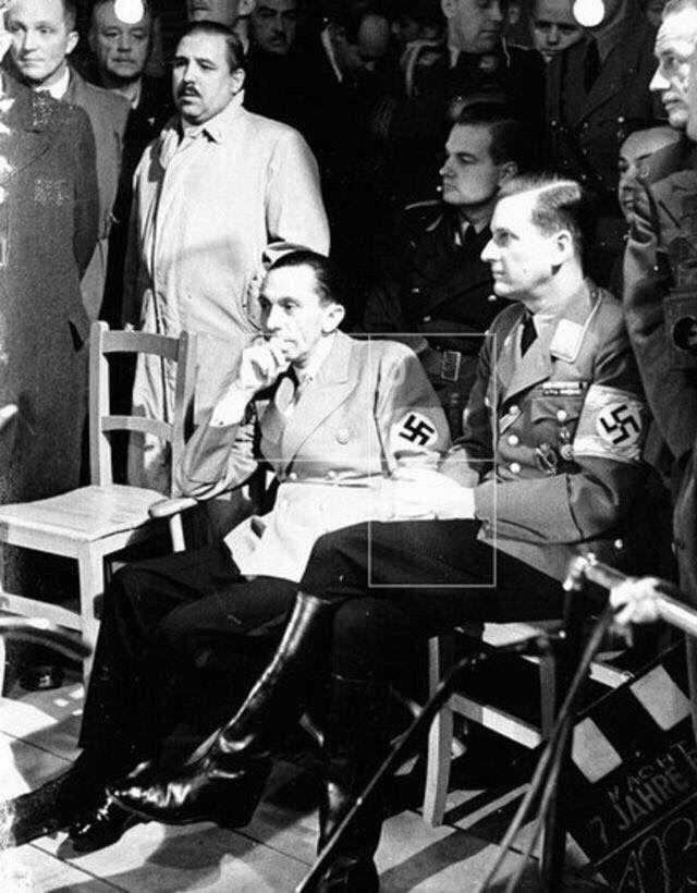 Gauleiter of Berlin and Propaganda Minister Dr Joseph Goebbels and Gauleiter of Vienna Baldur von Schirach