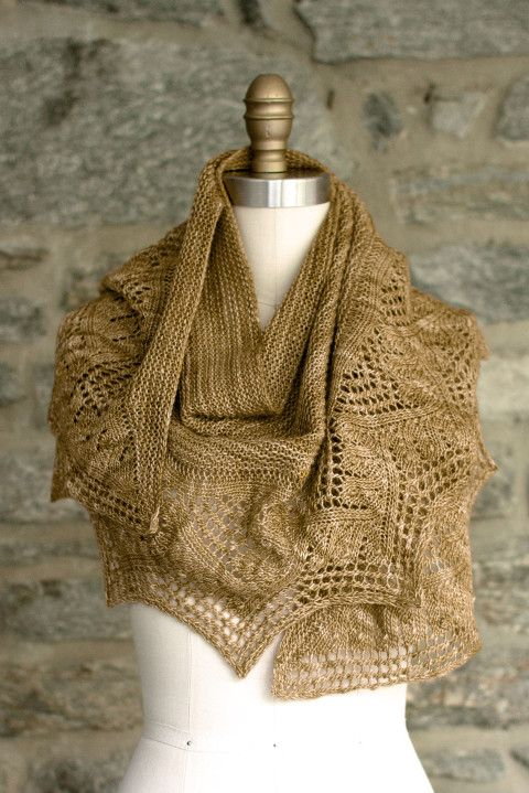 Flan by Heather Zoppetti, knit in Fino (419 Brass Button - 2 skeins)