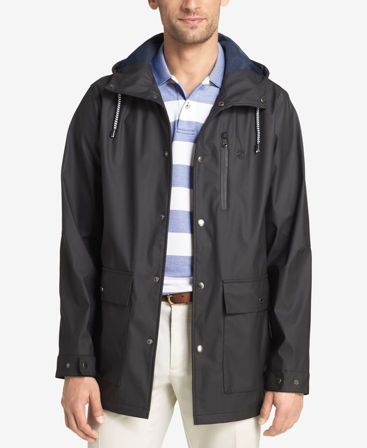 Izod Men's Hooded Raincoat and Windbreaker Jacket
