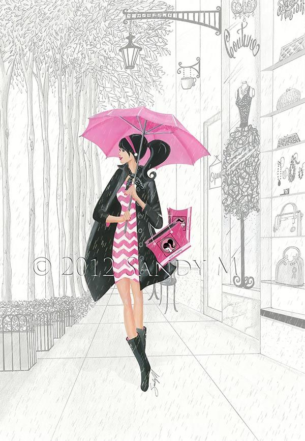 Illustrator SANDY M for Posh Frosting Rain Boots {featured via Ooh La Frou Frou}