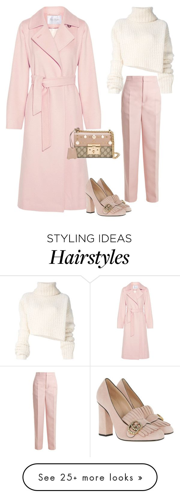 """""""Winter Pastels"""" by molauren on Polyvore featuring MaxMara, Joseph, Ann Demeulemeester and Gucci"""