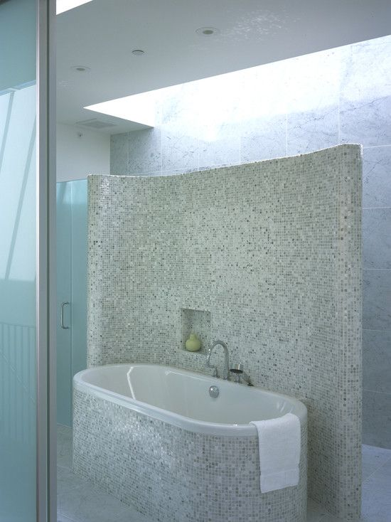 For Master bedroom - having a small wall that the shower sits behind.  interesting.