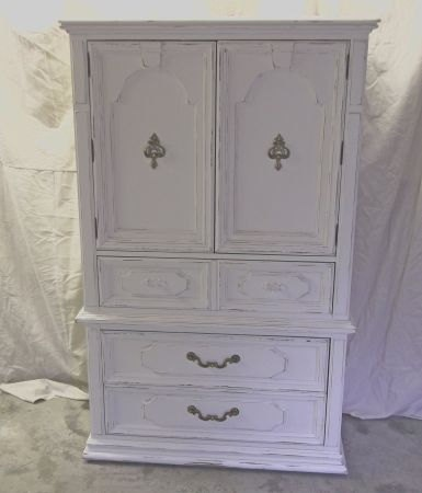 Shabby White Armoire / Chifferobe Chic DR301 By Royaloakcottage, $595.00