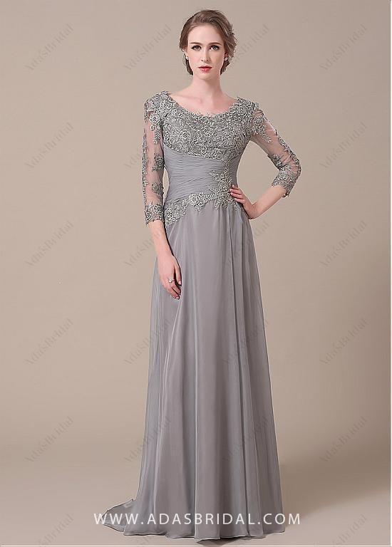 066f675a52 comprar Elegante como Seda Escote Scoop gasa vaina Madre de los vestidos de  novia de descuento en Dressilyme.com