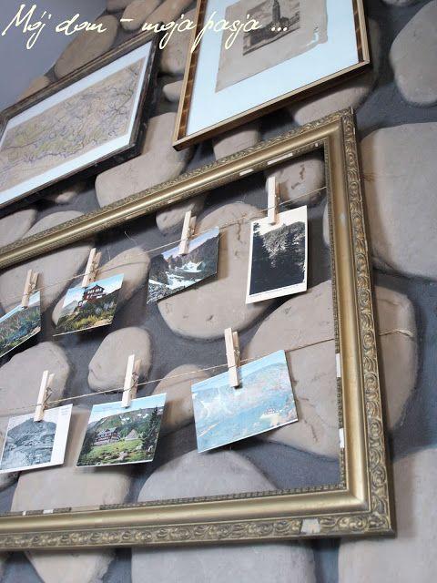 Mój dom moja pasja, Karkonosze na starych pocztówkach, Śnieżka, śnieżne kotły, schronisko im księcia henryka, na starej polanie, kolekcja kart pocztowych, diy, stara rama,