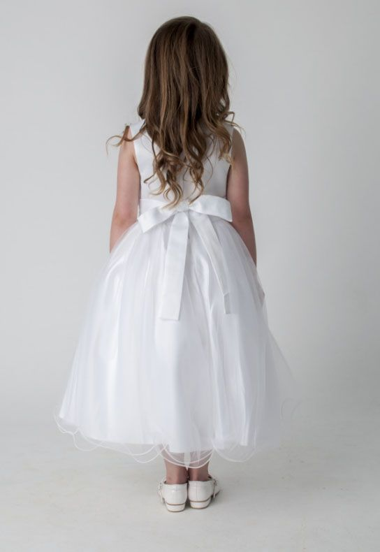 f06d426cb3a Πανέμορφο, Μακρύ Φόρεμα για Παρανυφάκι - Πάρτυ με Τριαντάφυλλα σε WHITE