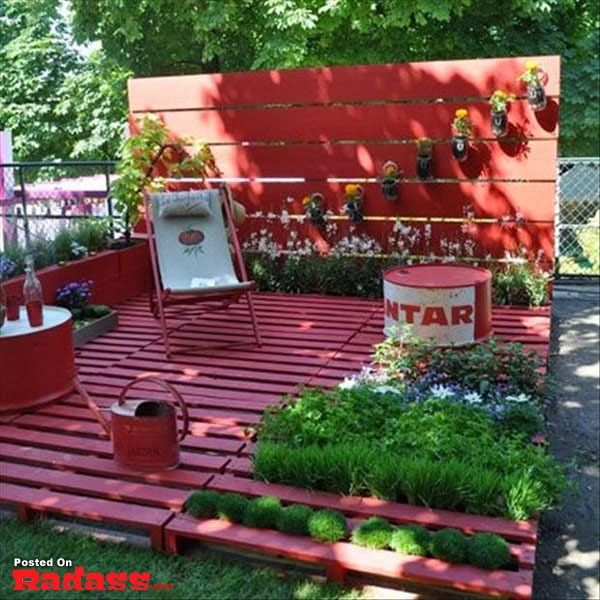 60 Id Es Pour Recycler Des Palettes Rouge Jardins Et Maison