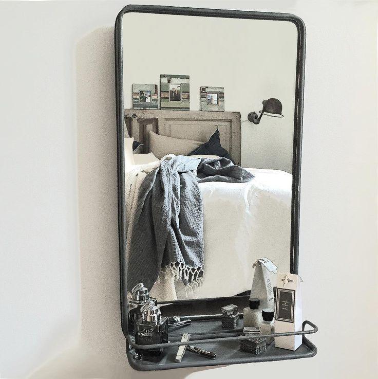 Spegel med hylla i metall från PB Home väggspegel Badrum Pinterest Produkter, Hem och Google