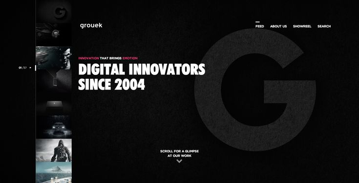 Grouek portfolio - Site of the Day December 31 2014