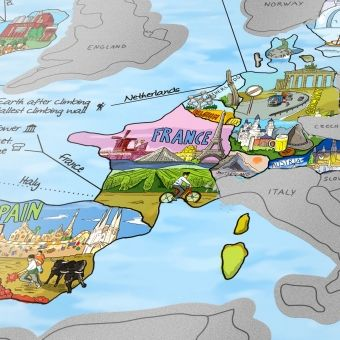 Weltkarte zum Freirubbeln - Bucketlist Scratch Map