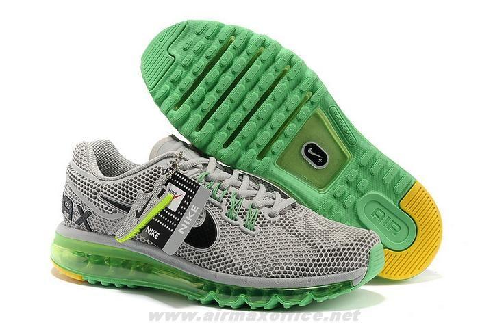 Nike Air Max 2013 LG Hive Grey Green Black Mens Shoes 2014 Free