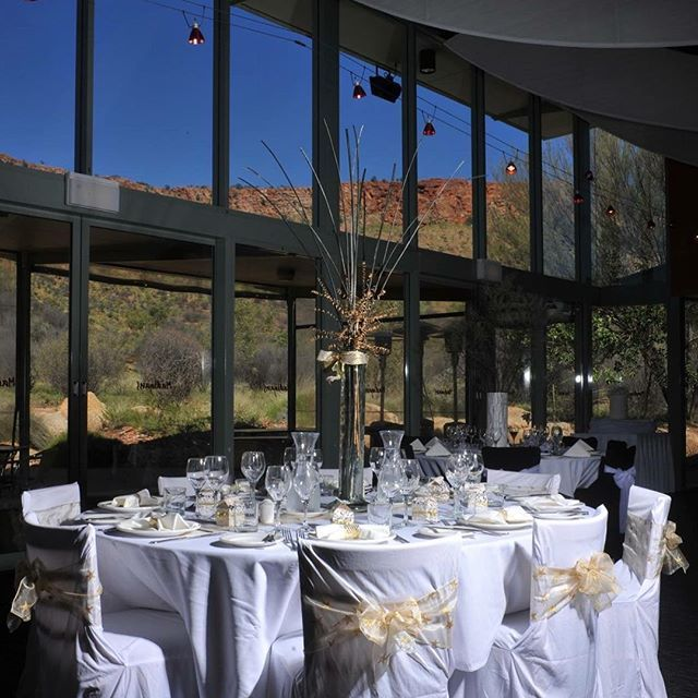 What a view!  Could you think of any other location to be. #alicespringsdesertpark #restaurantaustralia #macdonnellranges #ntaustralia #redcentrent #alicesprings #checkouttheview #events #weddingday #bride #eventplanning