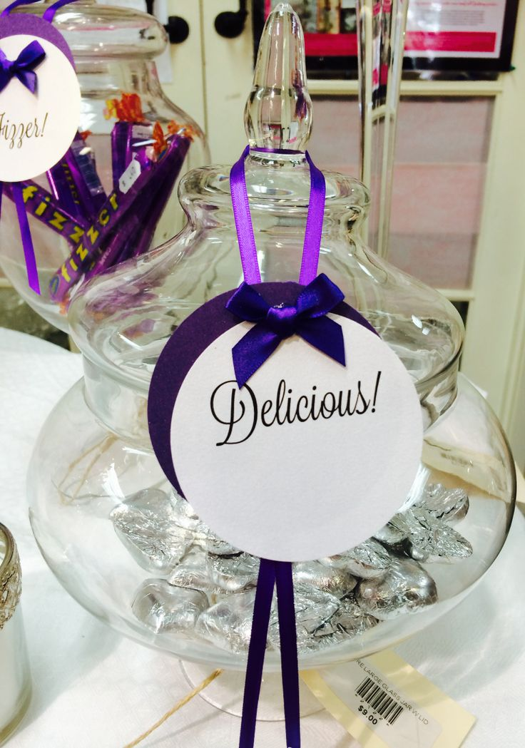 Labels :) Purple theme Lolly Buffet