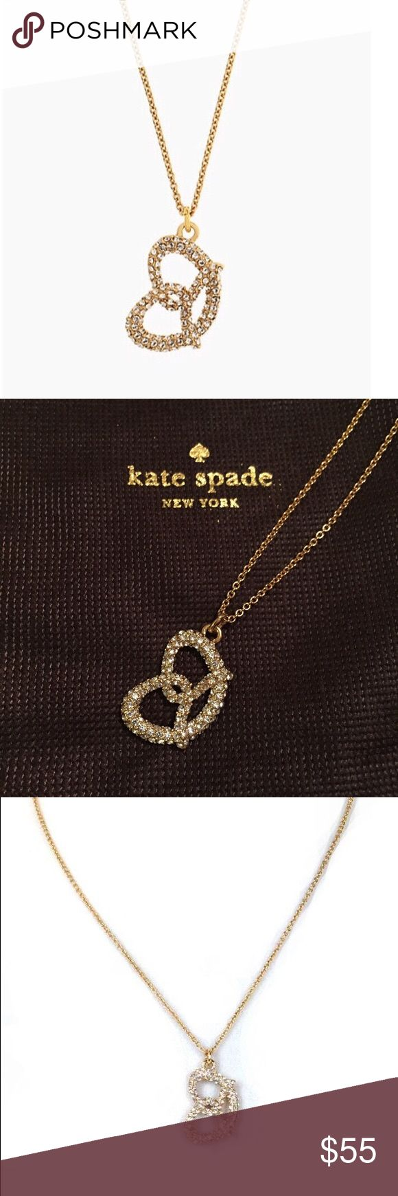 Kate Spade Embellished Pretzel Brand new with tag! Stylish accessory without looking cheap kate spade Jewelry Necklaces
